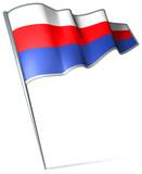 Flag pin - Protectorate of Bohemia and Moravia (1939-1945) poster