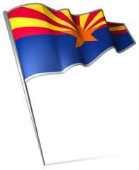 Flag pin - Arizona (USA)
