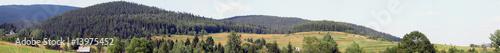 Panoramic view of Beskidy Mountain
