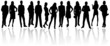 Silhouettes of business people