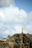 statue christ harbor san juan del sur nicaragua central america poster