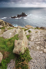Beautiful mountain landscape in Land's End, UK