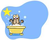 Basset Hound Bath poster