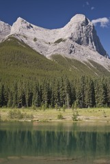 Canmore, Alberta, Canada; Ha Ling peak and Quarry Lake