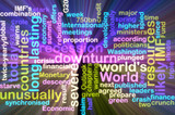 Recession wordcloud glowing poster