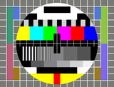 Fototapety Test TV Screen