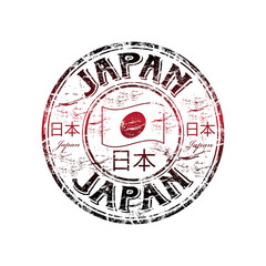 Japan grunge rubber stamp