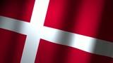 danmark flag - animated poster