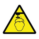 Overhead Restriction Hazard Sign poster