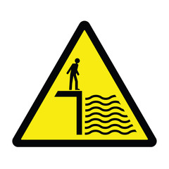 Deep Water Hazard Sign