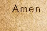Amen engraved poster