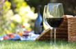Leinwandbild Motiv Summer picnic setting