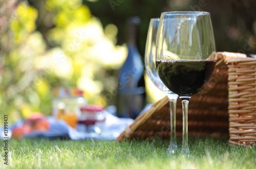 Fotobehang Picknick Summer picnic setting