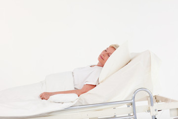 Woman with illness in Hopsital