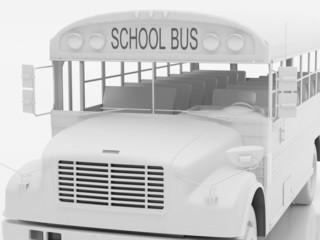 school bus a set one