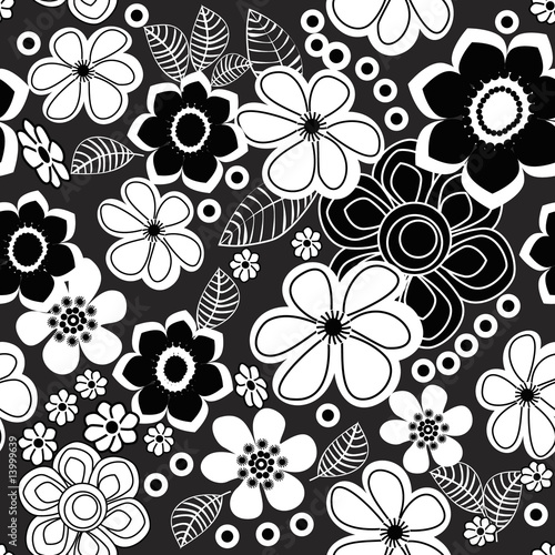 flower patterns black and white. Floral Black and White