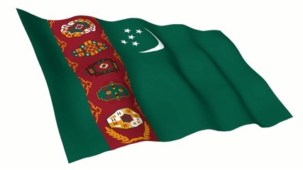 Turkmenistan Animated Flag