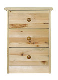 Pine chest of drawers with clipping path poster