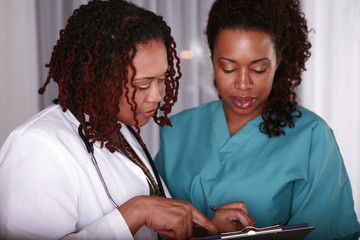 Strong African females in the medical field