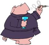 Gentleman Pig poster