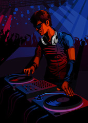 DJ in a club - more active people in my gallery.