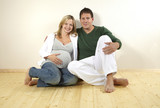 Fototapety schwangere frau mit partner
