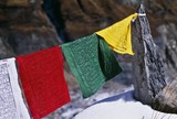Buddhist Prayer Flags, Annapurna Region, Nepal poster