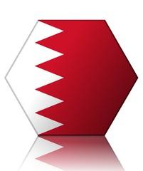 bahrein drapeau hexagone bahrain flag