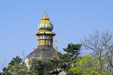 Prag Turmspitze im Park - Prague top of tower in park 01