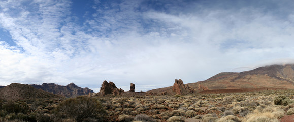 Panoramic view of the Teide volcano in Tenerife