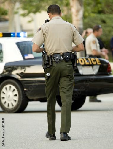 Cop walking