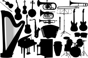 set music instrument - vector