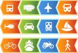Transportation Chevron Set poster