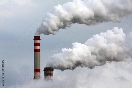 Leinwandbild Motiv industrial air pollution