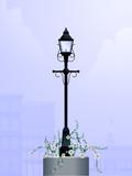 Daytime streetlamp poster