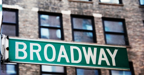 Broadway street sign in Manhattan, New York