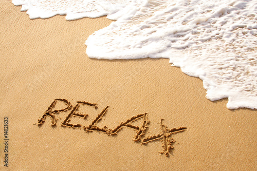 Relax in beach