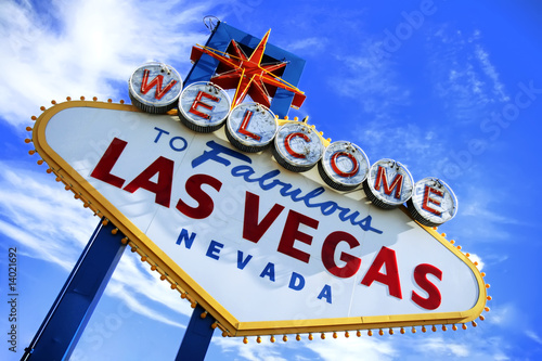Foto op Canvas Las Vegas Welcome To Las Vegas Sign