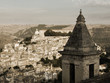 Panorama vintage of houses in italian town (Ragusa