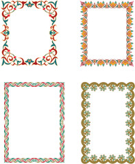 Oriental Islamic Arabic Frames and Borders