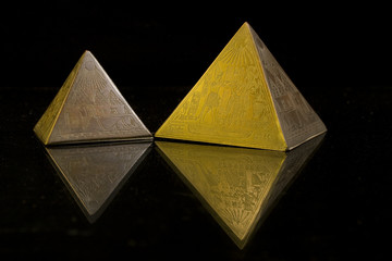 Pyramid Gold and Bronze