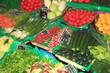 Frisches Gemüse Auslage an einem Markstand