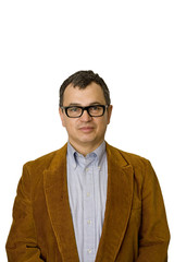 Man in Jacket and Glasses Serious