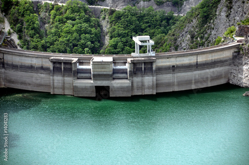 Fotobehang Dam barrage