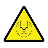 Swine Flu Hazard Sign 1 poster