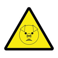 Swine Flu Hazard Sign 1