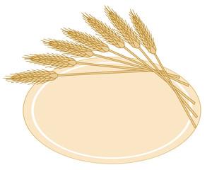 etichetta con grano