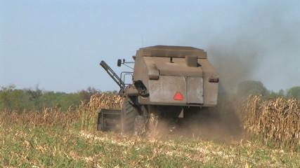 Combine Harvesting Corn 07