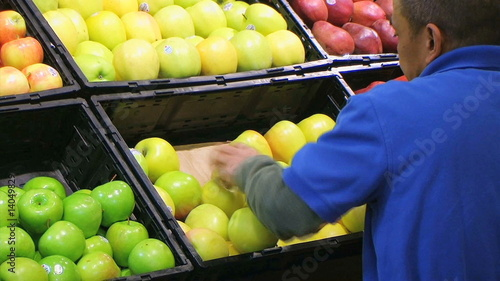 Man Facing Apples In Produce 02