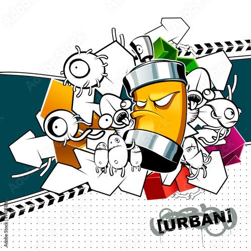 Fototapete Entwerfen - Kunst - Graffiti